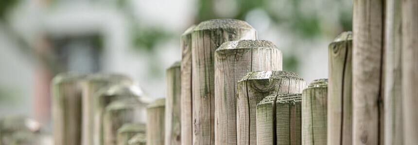 Ein Zaun als Sinnbild der Bedeutung von Grenzen setzen im Rahmen der Erziehung.